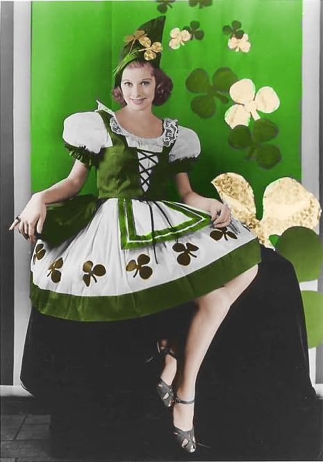 Image result for lucille ball in green shamrock dress