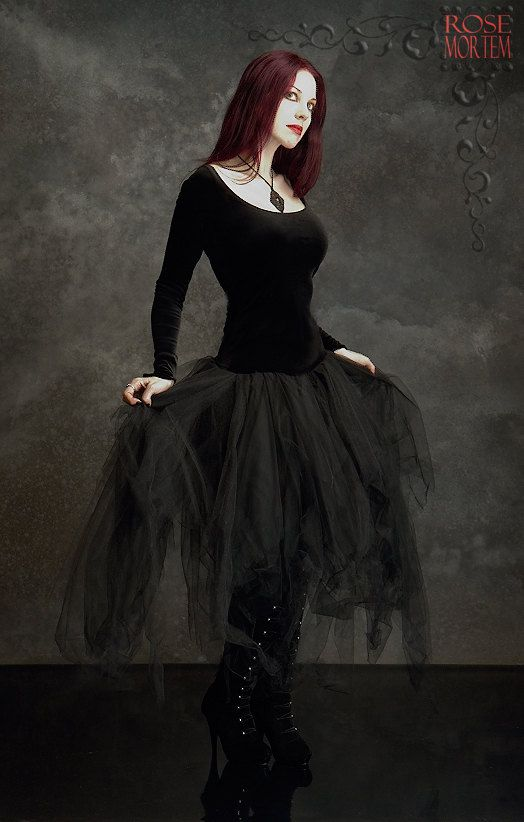 Cosette Dress in Velvet and Layered Tulle - Custom Elegant Gothic Clothing and Dark Romantic Couture. $169.00, via Etsy.