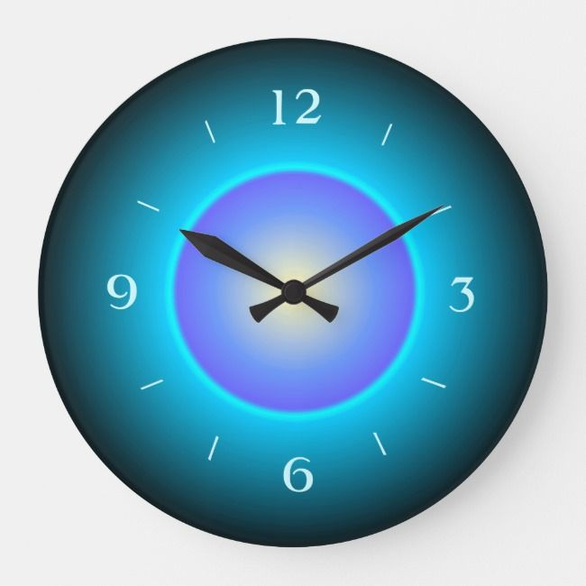 Design Green Aqua Purple Wall Clock Zazzle Com Purple Walls Purple Wall Clocks Wall Clock