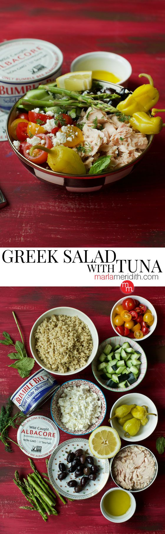 We are loving this super delicious Greek Salad with Bumble Bee® Solid White Albacore Tuna recipe @BumbleBeeSeafoods It only takes a few minutes to prepare! OnlyAlbacore #AD @MarlaMeridith ( @marlalmeridith ) @MarlaMeridith ( @marlalmeridith )