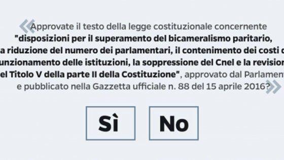 Il 4 dicembre gli elettori sono chiamati a esprimersi per il referendum confermativo, il cui esito determinerà l'entrata in vigore della riforma