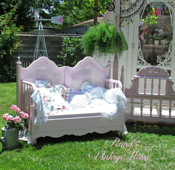 Pink Headboard Bench from Penny's Vintage Home