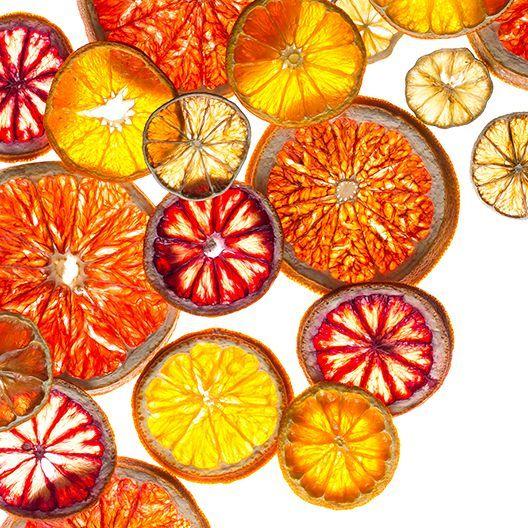dried citrus wheels, dried lemons, dried limes, dried oranges, for cocktails, decorations, pot-pourri