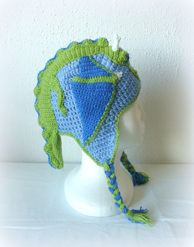 crochet dragon hat