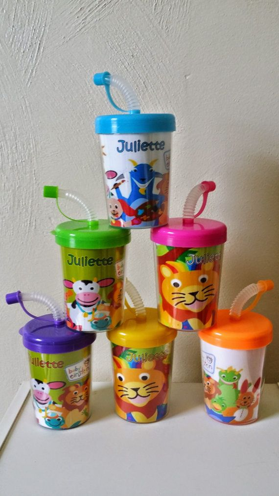 Baby Einsteins Personalized Party Favor Cups by MehareyDesigns, These are great Party Favors for children