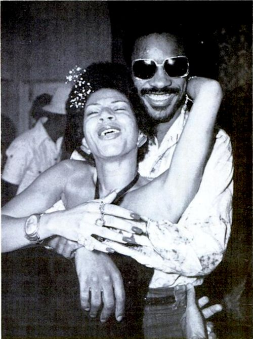 Minnie Ripperton and Stevie Wonder look like they are having too much fun!