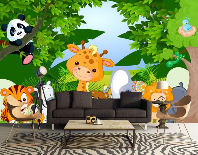 1000 id es sur le th me papier peint des animaux sur for Decoration murale jungle