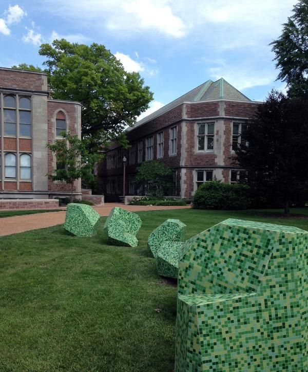Sculpture by Ayşe Erkmen is part of WashU's Art on Campus project.