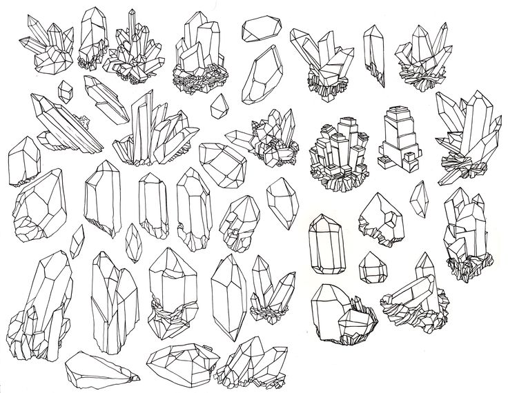 desenho cristais tumblr vintage crystal illustration - Google Search
