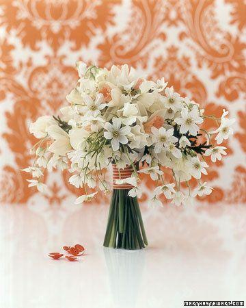 Wedding Ideas: white-flower-bouquet-peach