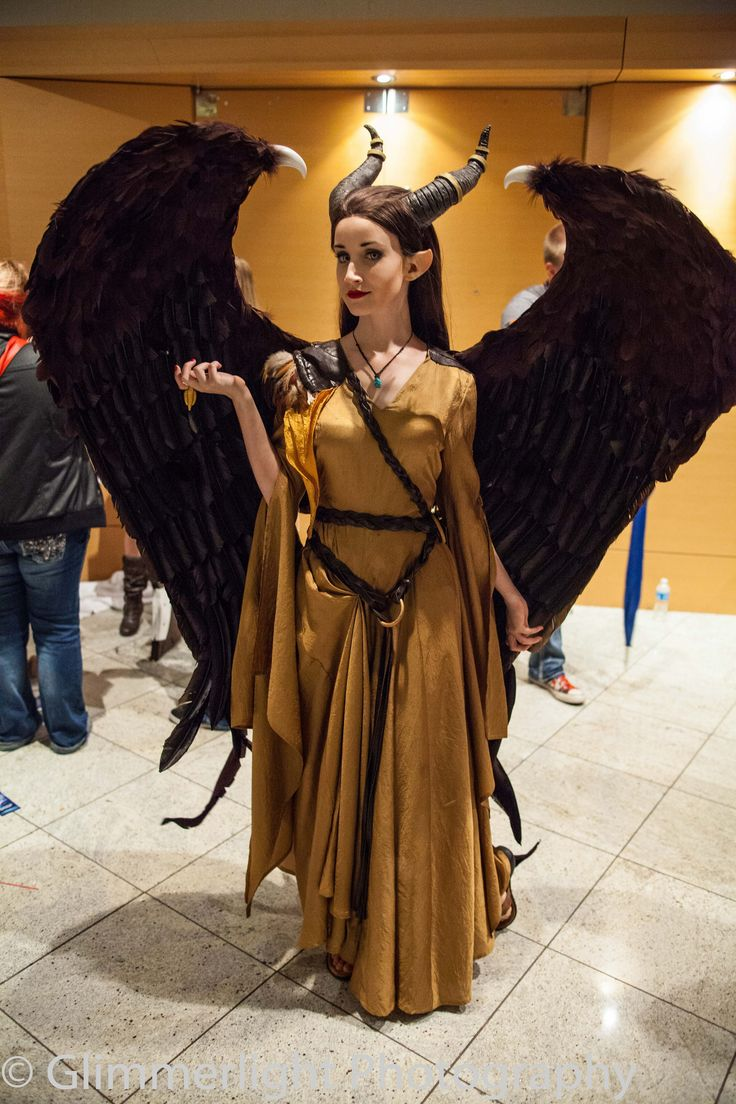 Maleficent cosplay. The details are incredible.