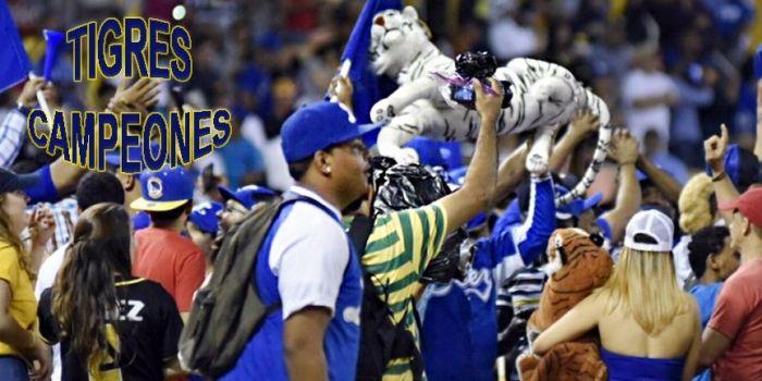 Equipo Tigres del Licey vence a las Águilas y se corona campeón béisbol otoño-invernal dominicano