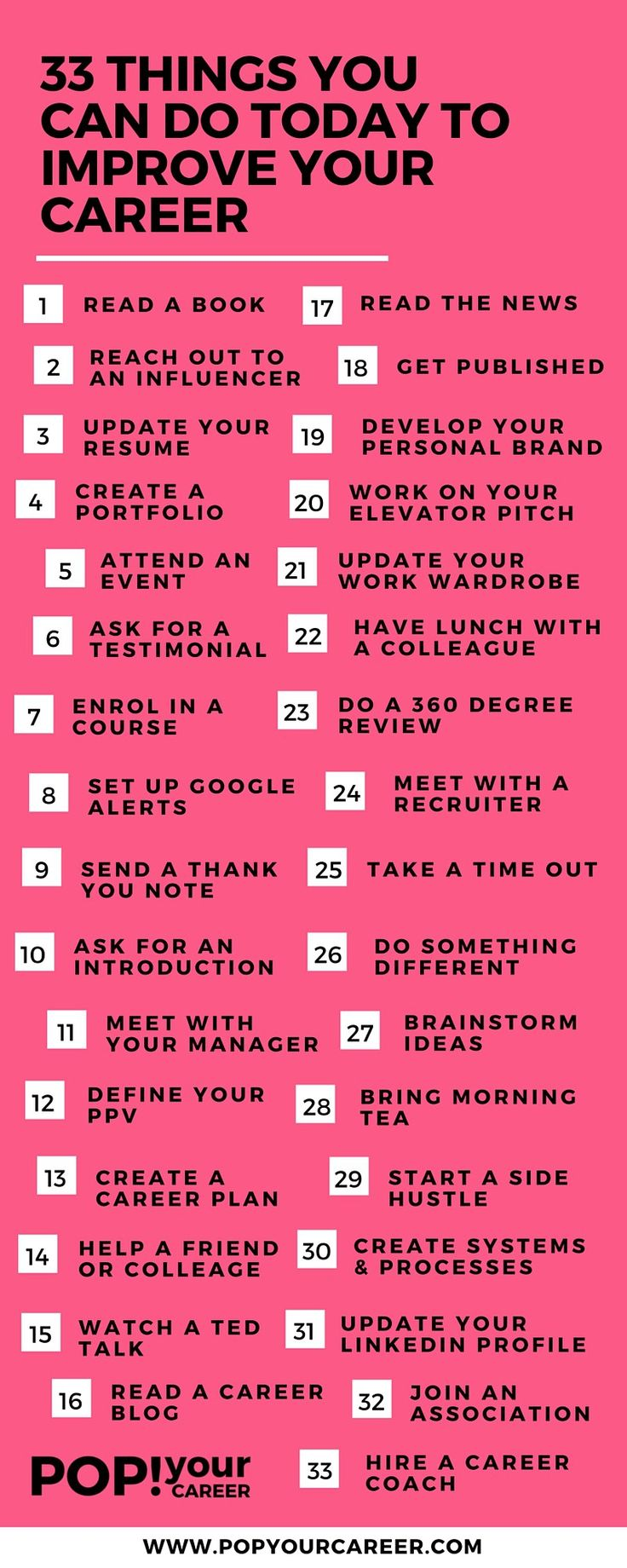 17 best images about employment resources 33 things you can do today to improve your career