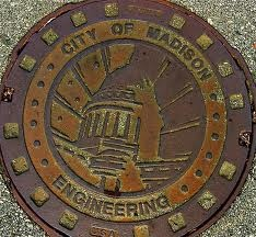 Manhole cover. City of Madison, WI.