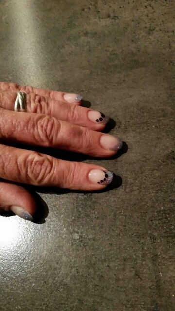 Paarse blauwe acryl nagels