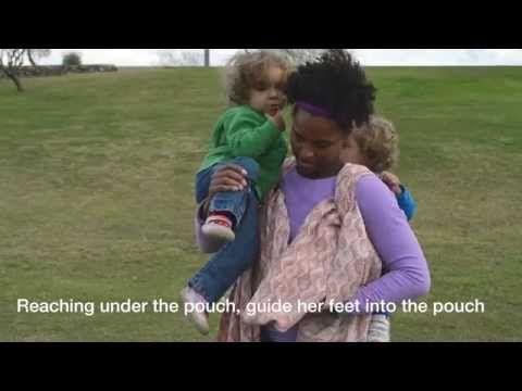 Jeden šátek od velikosti 5: Reinforced Rucksack with Rebozo Front Carry - YouTube