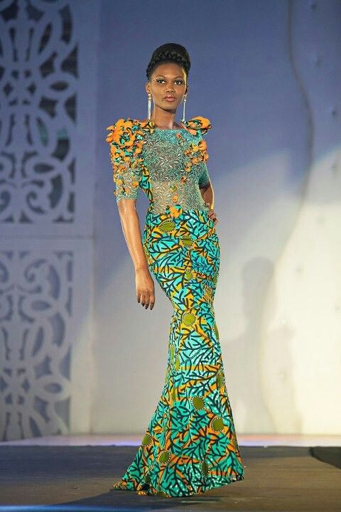 Pin by fortun e hanna on le pagne africain pinterest for African lace wedding dress