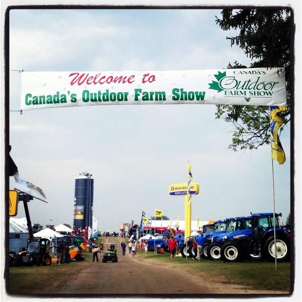 Great first day at Canada's Outdoor Farm Show. Thanks you to Kelsey helping out in the AgCareers.com booth for the photo.