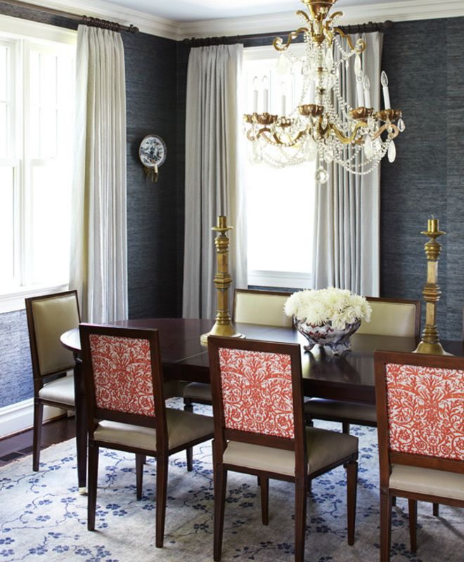 Rooms With Grasscloth Wallpaper: Beautifully Executed Dining Room By Pappas Miron