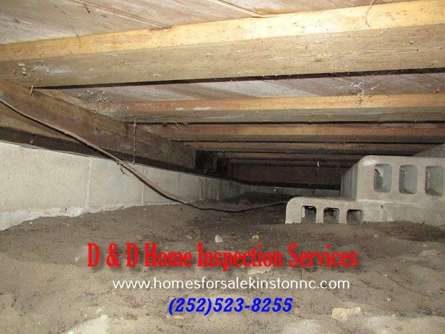 Floor Joists turned sideways - Found during a home inspection in Eastern, North Carolina.    Jacksonville, Kinston, New Bern, Emerald Isle, Greenville, Trenton, Maysville, Richlands.
