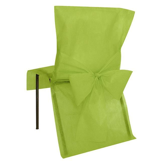 Stuhlhusse mit Schleife Deko-Vlies 10er Pack-grün #Hochzeitstrend #Farbtrend #Greenery #Hochzeit2017 #Dekotrend #Trend2017 #falksson #Stuhlüberzug