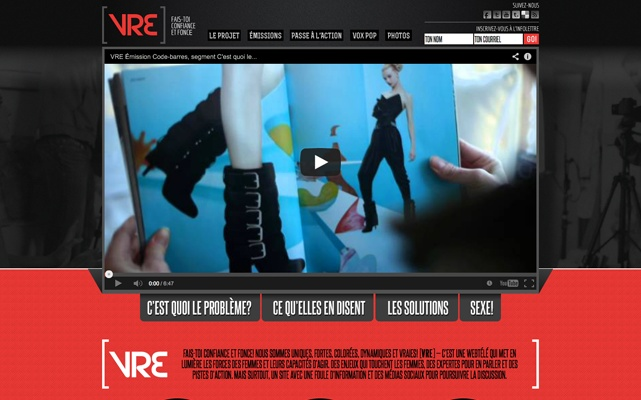 Web tv show talking about women in society (in French) - www.vretv.tv #webdesign #gatineau #ottawa #websitedesign