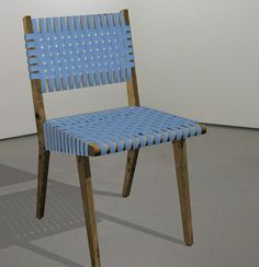 chair from pallets and plastic strapping