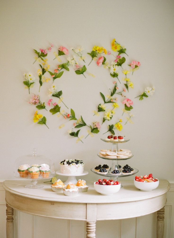 Everybody loves a dessert bar! Stop by your local bakery for bite sized treats and bowls of fresh fruit add colour.