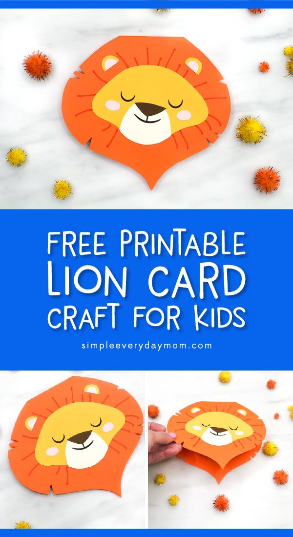 Lion Card Craft For Kids Crafts For Kids Fathersday Crafts
