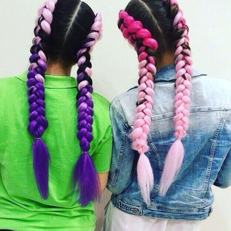 Косы канекалоном это искусственные пряди, для создания разнообразных причесок. Покупая канекалон, разнообразное количество причесок Вам гарантировано, так как цветной канекалон можно вплести в косу, либо же сделать красивый хвост с яркими прядями, а также их можно носить с распущенной прической. Spit kanekalon is an artificial strand, to create a variety of hairstyles.