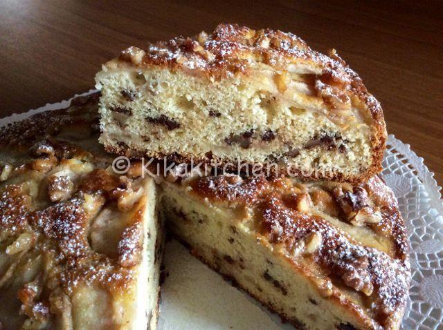 torta con pere e noci