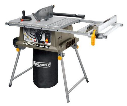 "Rockwell RK7241S 10"""" 15 Amp Jobsite Table Saw with Laser"