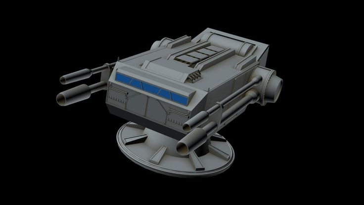 3D Spaceship Laser Canon Model - 3D Model