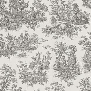 Country Life Toile Black Waverly Waverly Fabrics