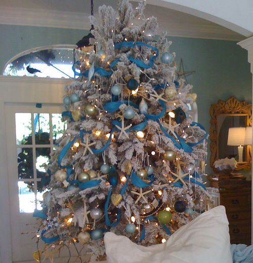 Click pic 30 christmas tree decorating ideas beach for Decoration 02100