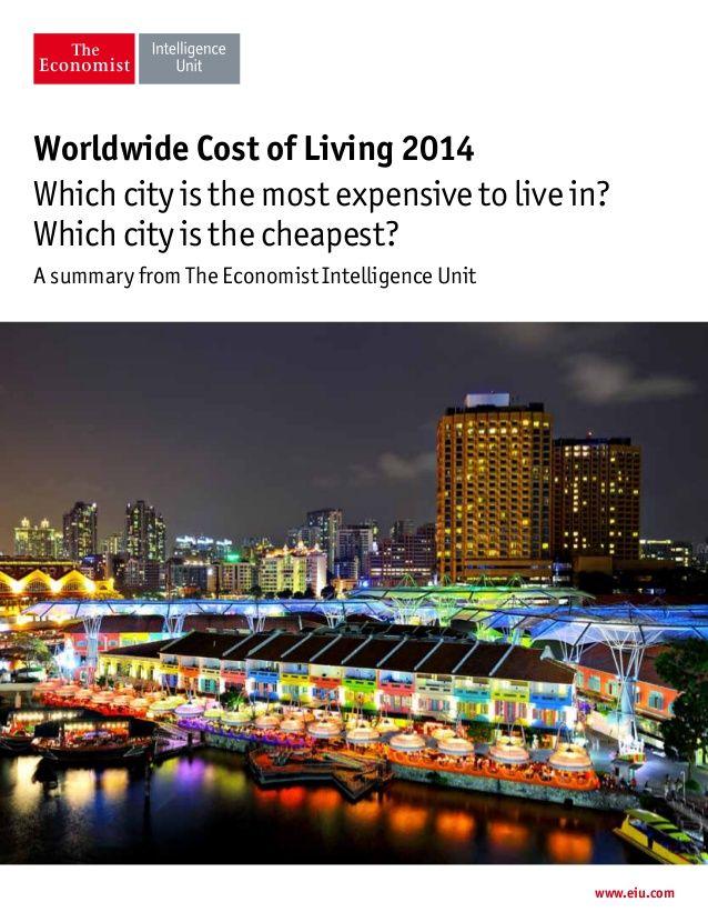 Etude de l'EIU sur les villes le splus chères du monde. by lesechos2 via slideshare