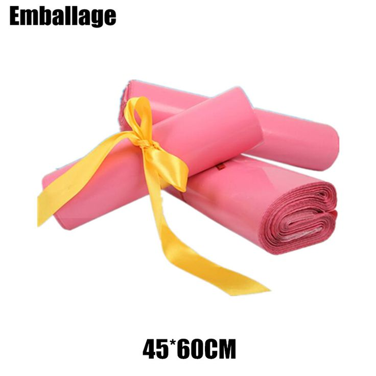 45*60CM Large Pink Courier Bag Plastic Envelope Mailers Mailing Bags Poly Mailer Logistics Packaging Pouch Bag PP072713 #Affiliate
