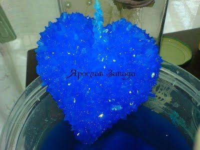"""Сростки кристаллов. """"Ежи"""", сердца и другие нестандартные формы - Выращивание кристаллов"""