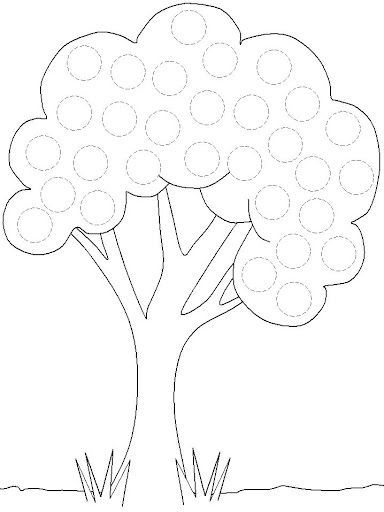 free printable tree trace worksheet (3) Do a dot