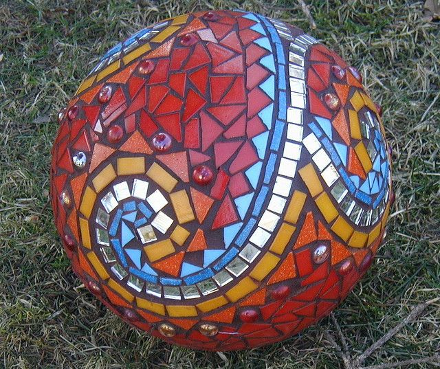mosaic-covered ball