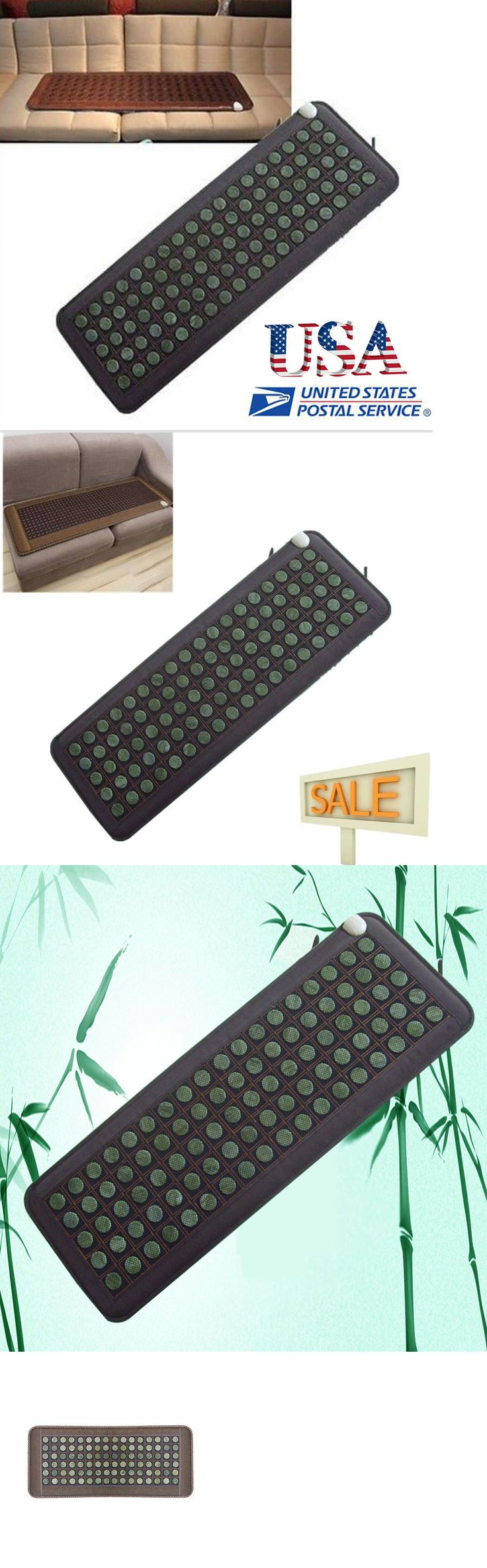 Massage Stones and Rocks: Natural Jade Tourmaline Stones Negative Ions Infrared Heating Energy Mat Usa -> BUY IT NOW ONLY: $144 on eBay!