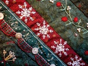 Christmas crazy quilt stitches