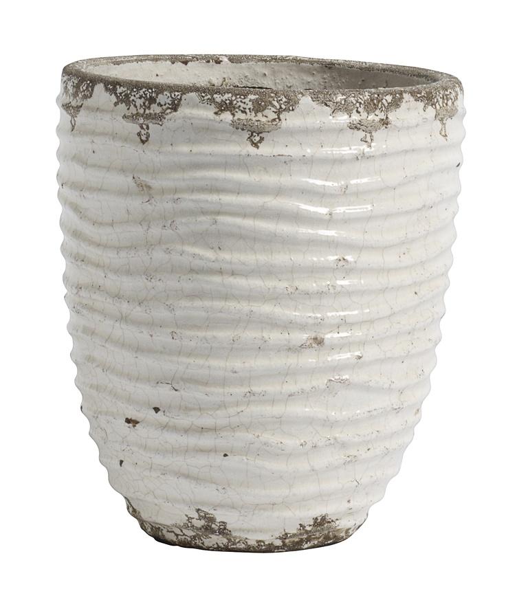 Flower Pot - White