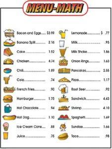 Amazon.com: Menu Math Hamburger Hut Extra Educational Tool: Office ...