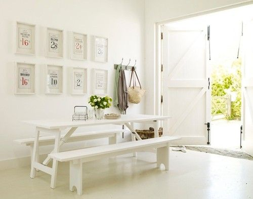 White Picnic Table Dining Room