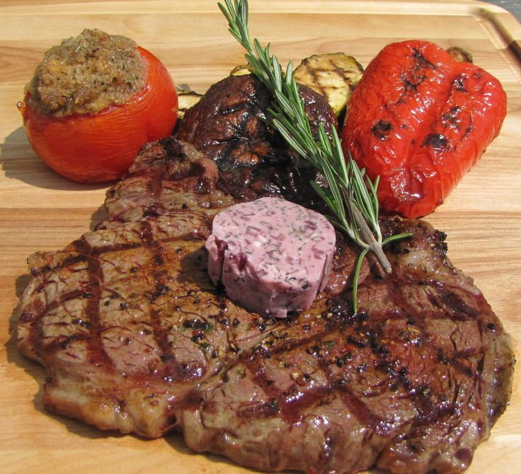 Tarragon compound butter with grilled steak