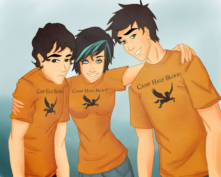 Children of the Big Three: Nico di Angelo (son of Hades); Thalia Grace (daughter of Zeus); and Percy Jackson (son of Poseidon)