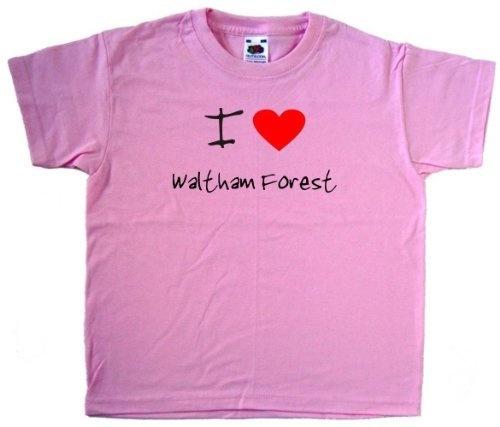 Review I Love Heart Waltham Forest Pink Kids T-Shirt. . http://www.amazon.com/exec/obidos/ASIN/B007C5UDYE/tipscomputer-20