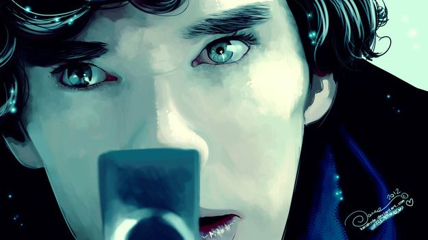"15 Incredible Pieces Of ""Sherlock"" Fan Art.  Artist: KanaHyde"