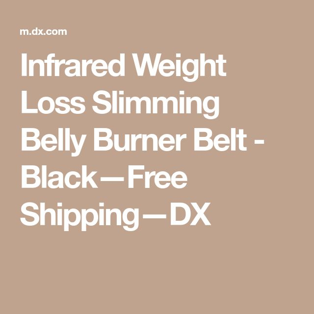 Infrared Weight Loss Slimming Belly Burner Belt - Black—Free Shipping—DX